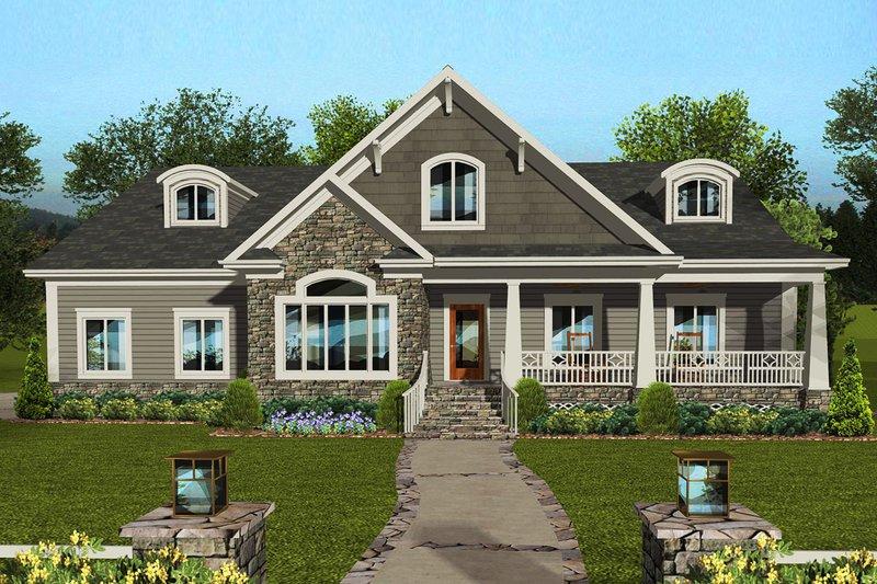 House Plan Design - Craftsman Exterior - Front Elevation Plan #56-711