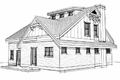 Craftsman Style House Plan - 4 Beds 2 Baths 1648 Sq/Ft Plan #451-7 Exterior - Rear Elevation