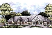 European Style House Plan - 4 Beds 3.5 Baths 4149 Sq/Ft Plan #141-334