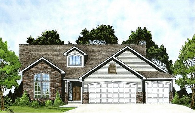 Traditional Exterior - Front Elevation Plan #58-178 - Houseplans.com