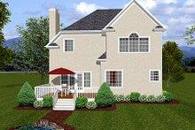 House Plan Design - European Exterior - Rear Elevation Plan #56-154