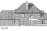 Modern Style House Plan - 4 Beds 2.5 Baths 2751 Sq/Ft Plan #70-437 Exterior - Rear Elevation