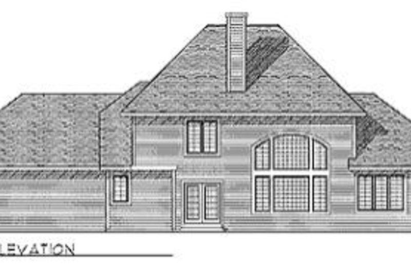 Modern Exterior - Rear Elevation Plan #70-437 - Houseplans.com