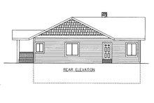 House Plan Design - Craftsman Exterior - Rear Elevation Plan #117-893