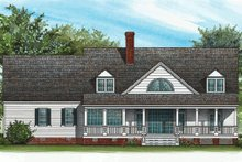 House Plan Design - Rear view - 2600 square foot Southern home