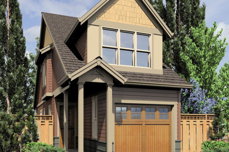 Cottage Exterior - Front Elevation Plan #48-570 - Houseplans.com