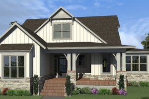 Country Exterior - Front Elevation Plan #63-427