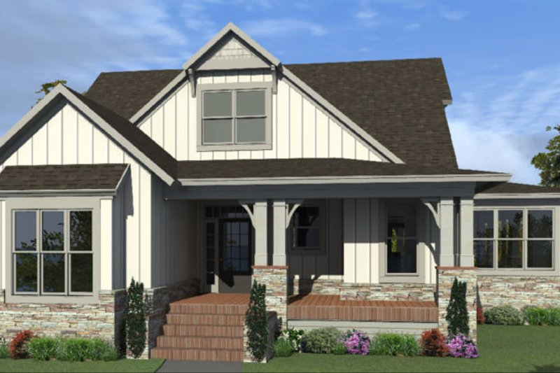 House Plan Design - Country Exterior - Front Elevation Plan #63-427