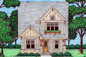 Cottage Exterior - Front Elevation Plan #413-870