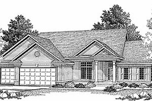 Traditional Exterior - Front Elevation Plan #70-311
