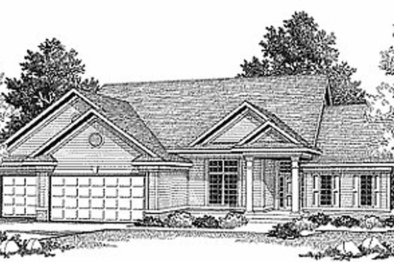 Traditional Style House Plan - 2 Beds 2 Baths 2120 Sq/Ft Plan #70-311 Exterior - Front Elevation