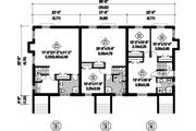 Traditional Style House Plan - 9 Beds 3 Baths 6338 Sq/Ft Plan #25-4615 Floor Plan - Lower Floor Plan