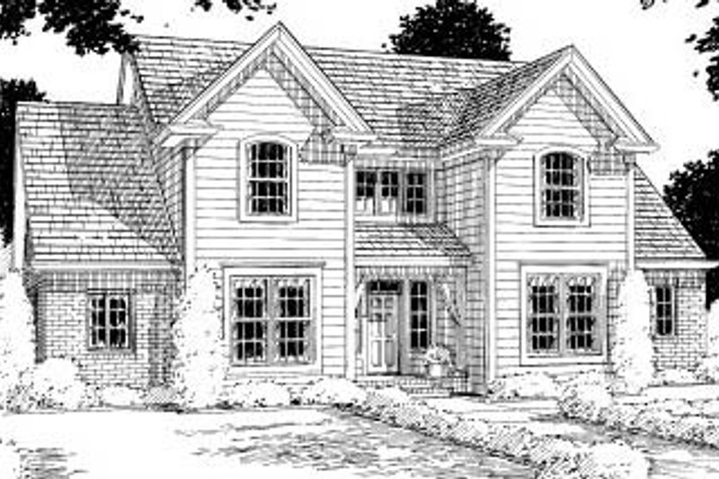 Traditional Exterior - Front Elevation Plan #20-312 - Houseplans.com