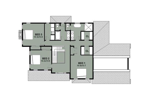 House Plan Design - Farmhouse Floor Plan - Upper Floor Plan #497-11