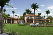 Modern Style House Plan - 4 Beds 5.5 Baths 4887 Sq/Ft Plan #48-468 Exterior - Rear Elevation