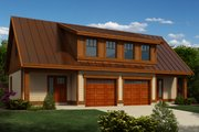 Traditional Style House Plan - 1 Beds 1 Baths 2007 Sq/Ft Plan #118-126 Exterior - Front Elevation