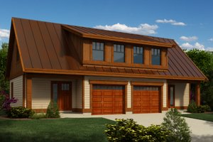 Traditional Style House Plan - 1 Beds 1 Baths 2007 Sq/Ft Plan #118-126