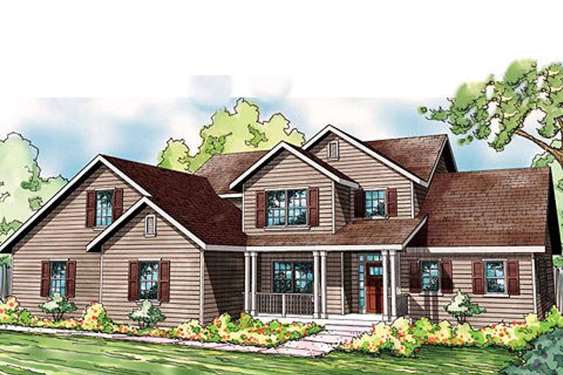 Craftsman Exterior - Front Elevation Plan #124-836