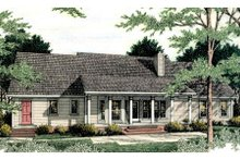 Dream House Plan - Country Exterior - Rear Elevation Plan #406-134