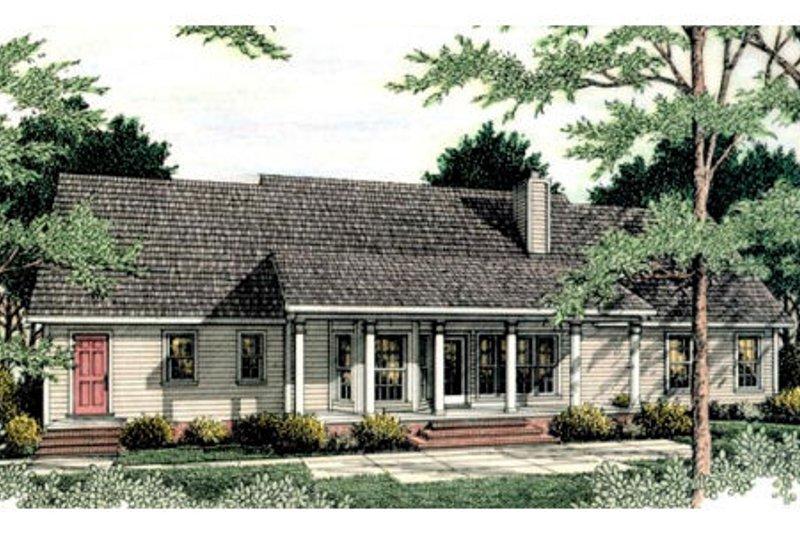 Country Exterior - Rear Elevation Plan #406-134 - Houseplans.com