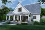 Cottage Style House Plan - 3 Beds 2 Baths 1302 Sq/Ft Plan #120-273 Exterior - Front Elevation