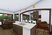 Ranch Style House Plan - 3 Beds 2.5 Baths 2459 Sq/Ft Plan #1069-7 Interior - Family Room