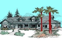 Dream House Plan - Country Exterior - Front Elevation Plan #60-419