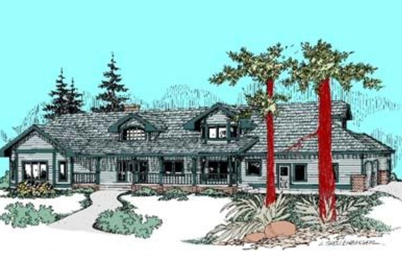 Country Exterior - Front Elevation Plan #60-419 - Houseplans.com