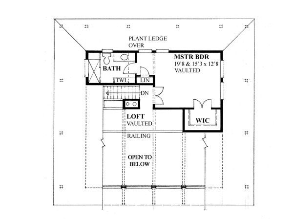 Cottage Floor Plan - Upper Floor Plan Plan #118-172