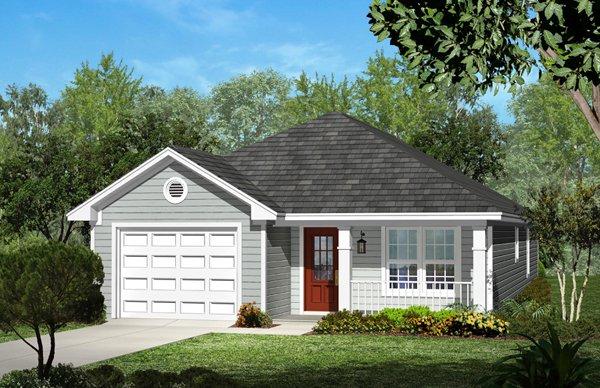 Cottage Exterior - Front Elevation Plan #430-39
