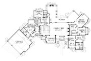 Prairie Style House Plan - 4 Beds 4 Baths 4166 Sq/Ft Plan #80-211 Floor Plan - Main Floor Plan
