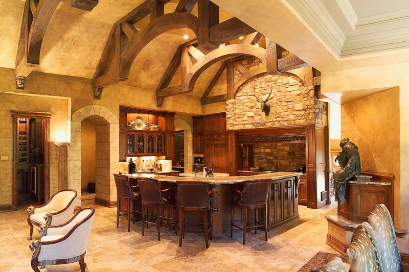 Kitchen - 6400 square foot European style home