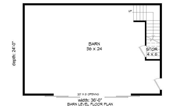 Farmhouse Floor Plan - Main Floor Plan Plan #932-133