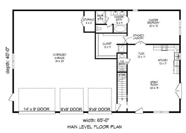 Country Floor Plan - Main Floor Plan Plan #932-248