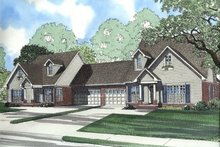 House Plan Design - Traditional Exterior - Front Elevation Plan #17-2028