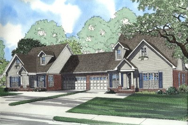 Dream House Plan - Traditional Exterior - Front Elevation Plan #17-2028