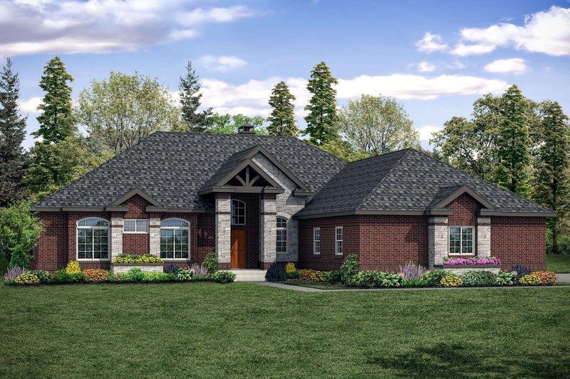 House Plan Design - European Exterior - Front Elevation Plan #124-1144