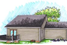 Dream House Plan - Ranch Exterior - Rear Elevation Plan #70-1018
