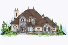 European Exterior - Front Elevation Plan #5-467