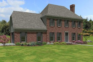 European Exterior - Front Elevation Plan #81-13773