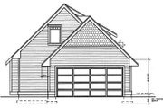 Craftsman Style House Plan - 3 Beds 2 Baths 1251 Sq/Ft Plan #95-219 Exterior - Rear Elevation