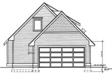 Craftsman Exterior - Rear Elevation Plan #95-219