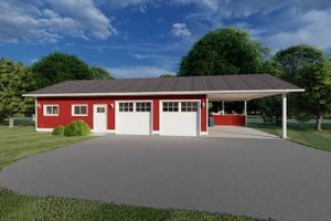 Ranch Exterior - Front Elevation Plan #126-204