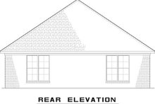 Dream House Plan - Cottage Exterior - Rear Elevation Plan #17-2546