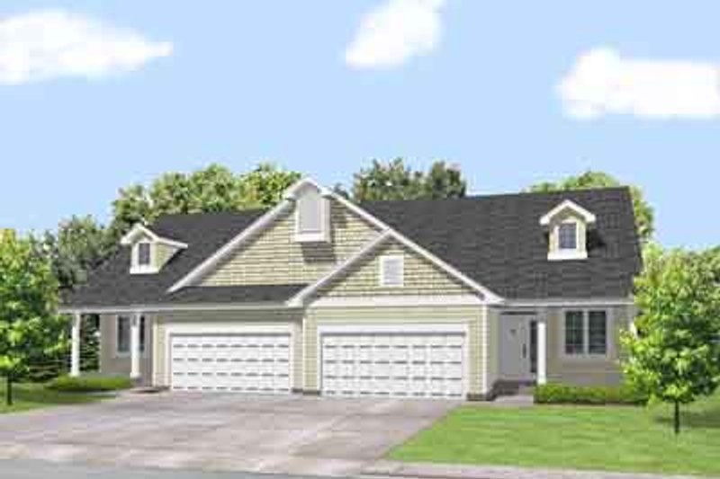 Traditional Style House Plan - 2 Beds 1 Baths 1234 Sq/Ft Plan #50-250 Exterior - Front Elevation