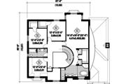 European Style House Plan - 4 Beds 2 Baths 3297 Sq/Ft Plan #25-4861 Floor Plan - Upper Floor Plan