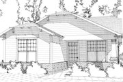 Bungalow Style House Plan - 2 Beds 2 Baths 1251 Sq/Ft Plan #63-293 Exterior - Front Elevation