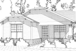 Bungalow Exterior - Front Elevation Plan #63-293