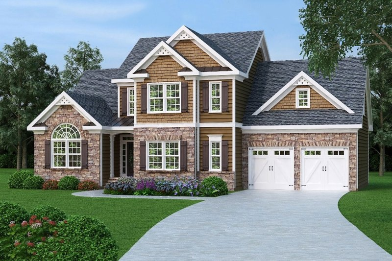Traditional Style House Plan - 3 Beds 2.5 Baths 1721 Sq/Ft Plan #419-160 Exterior - Front Elevation