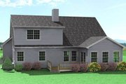 Traditional Style House Plan - 3 Beds 2.5 Baths 2270 Sq/Ft Plan #75-115 Exterior - Rear Elevation